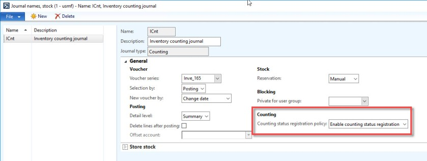 Journal name setup form
